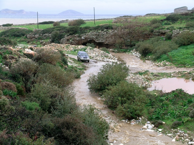 Fluss nach starkem Regenfall