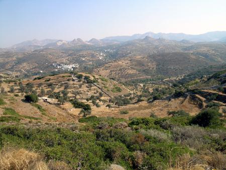 frühherbstliche Landschaft bei Potamia