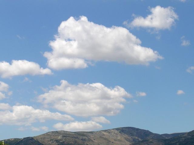 Cumulus-Wolken, Schönwetter