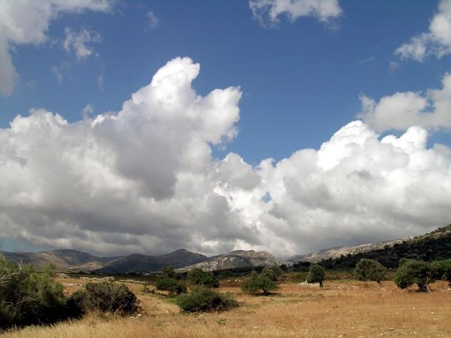Cumulus mediocris, Quellwolken