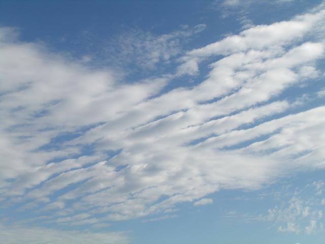 Cumulus undulatus-Wolken