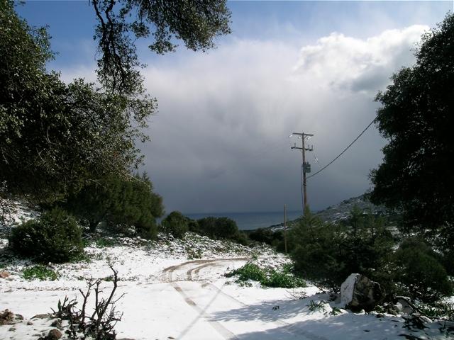 Berge mit Schnee-1