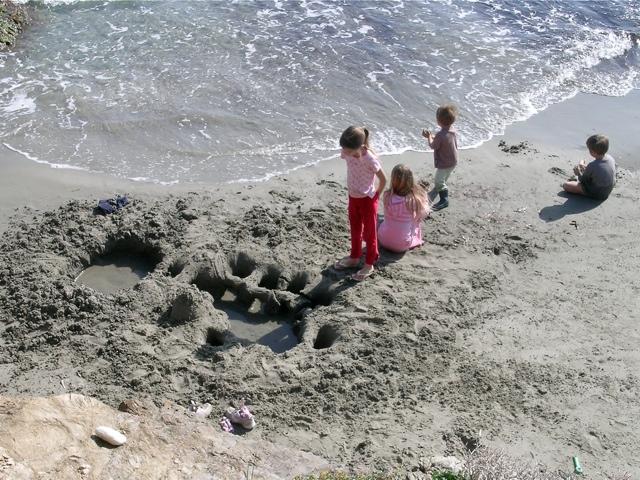 bei uns am Strand