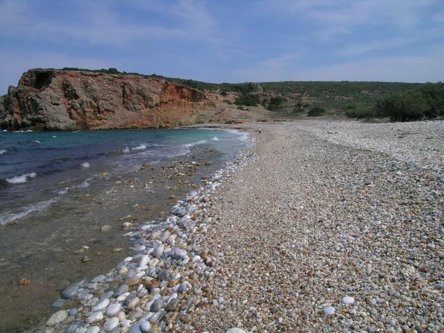 Der Strand von Azalas, Moutsouna, Naxos