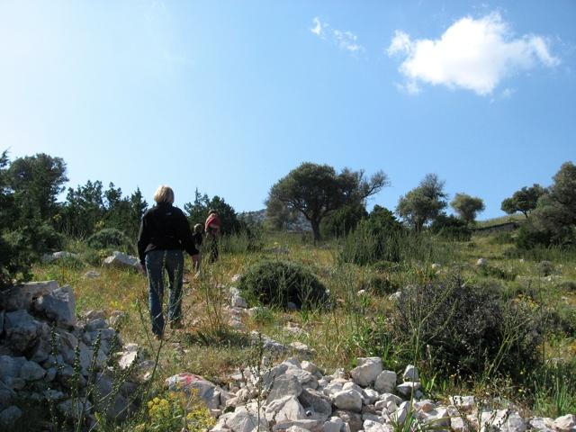 Panormos, Aufstieg zur Akropolis