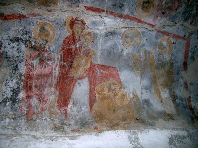 Die byzantinische Kirche Agios Nikolaos am Troullo