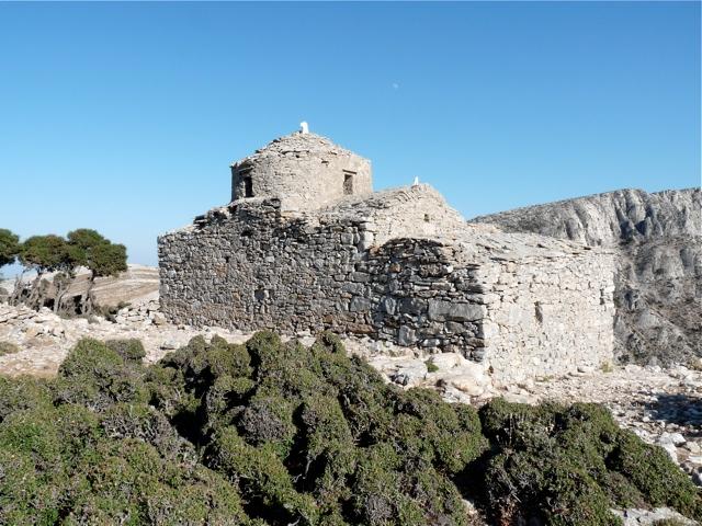 Die byzantinische Kirche Agia Kyriaki bei Apiranthos